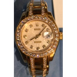 Montre Rolex Lady Datejust Pearlmaster Diamants